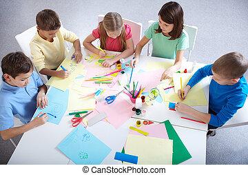 grupo, desenho