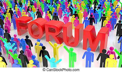 grupo discussão, fórum