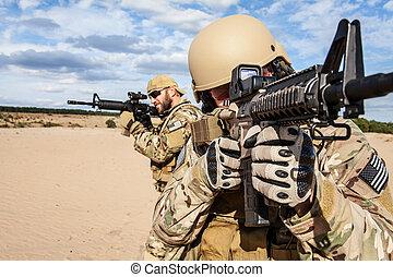 grupo, ejército, nosotros, soldado, fuerzas, especial
