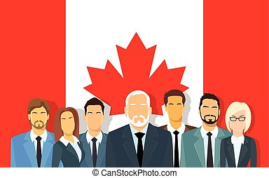 grupo, empresa / negocio, canadiense, encima, gente,...