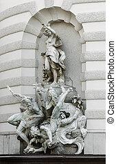 grupo, escultural