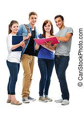 grupo, estudantes colégio