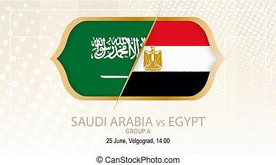 grupo, fútbol, egipto, a., contra, saudí, volgograd.,...