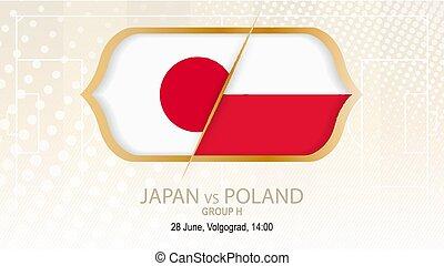 grupo, fútbol, polonia, contra, h., volgograd., japón,...