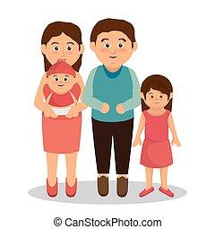 grupo familia, miembros, caracteres