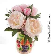 grupo flores, em, um, vaso