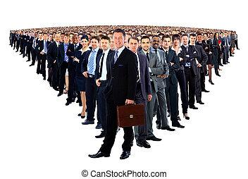 grupo grande, de, businesspeople