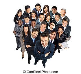 grupo grande, de, empresa / negocio, personas.