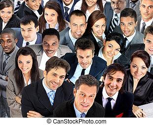 grupo grande, de, empresarios