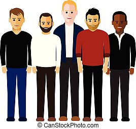 grupo homens