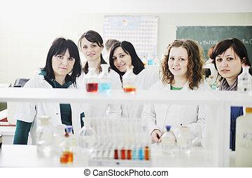 grupo, laboratório, pessoas