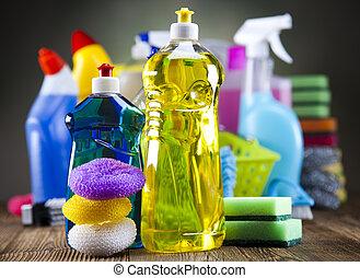 grupo, limpieza, variado