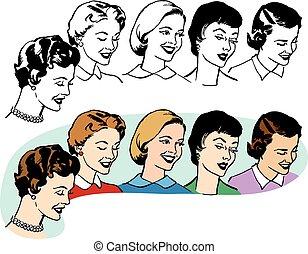 grupo, mujeres