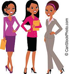 grupo, mulheres