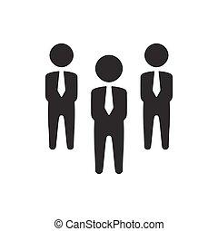 grupo, negócio, ícone