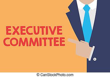 grupo, negócio, foto, mostrando, executivo, autoridade,...