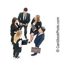 grupo, negócio, pessoas., isolado, businessman., branca, backgro
