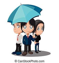 grupo, negócio, trabalhador, vetorial, caráteres, caricatura