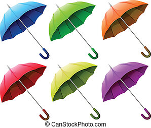 grupo, paraguas