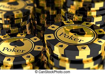grupo, pedacitos del póker, oro