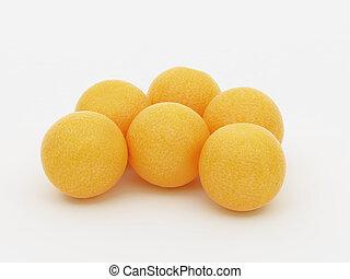 grupo pequeno, de, laranjas