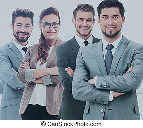 grupo pessoas empresariais, em, um, escritório