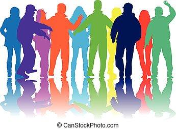 grupo, pessoas