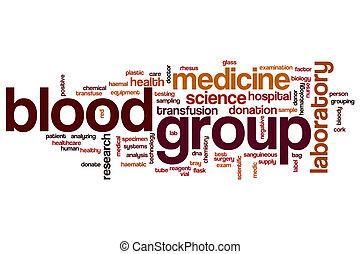grupo sanguíneo, palabra, nube