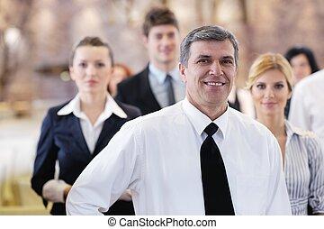 grupo, seminário negócio, pessoas