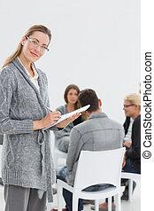 grupo, sessão, terapia, terapeuta