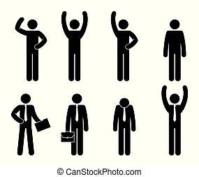 grupo, trabalho equipe, pessoas negócio