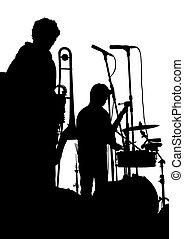 grupo, trompeta