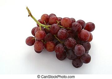 grupo, uvas vermelhas