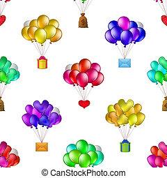 grupos, balões, seamless