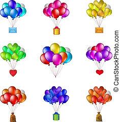 grupos, jogo, balões