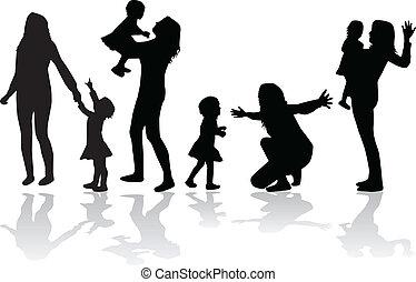 grupos, vetorial, família