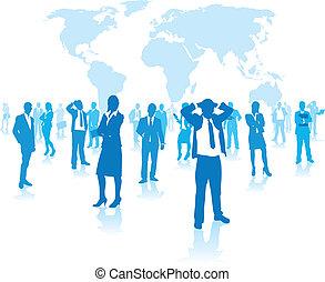 grupp, affärsfolk