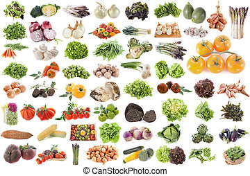 grupp, av, grönsaken