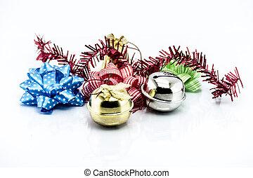 grupp, av, jul, objekt, isolerat, vita, bakgrund