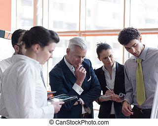 grupp,  brainstorming, affär, folk
