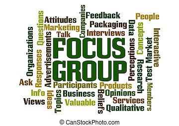grupp, fokusera