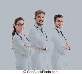 grupp, framgångsrik, doktorn, ung