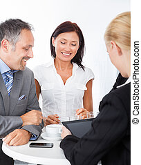 Gruppe, Besprechen,  businesspeople, zusammen