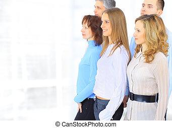 Gruppe, Besprechen, Geschäftsmänner