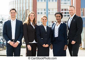 Gruppe,  businesspeople, glücklich