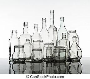 gruppe, flasker