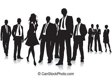 gruppe, folk branche