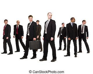 gruppe, forretningsmænd