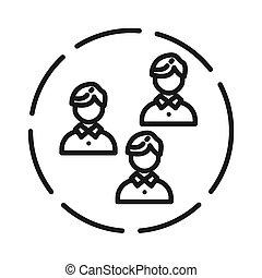 gruppe freunde, abbildung, design