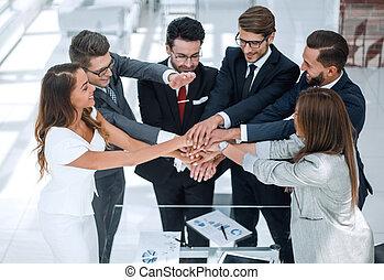 gruppe, geschäftsmenschen, gewerblich, projekt, neu , beginnen